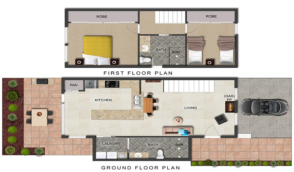 Buckingham - Richmond - New Floorplan with Updated Bathroom 1024px