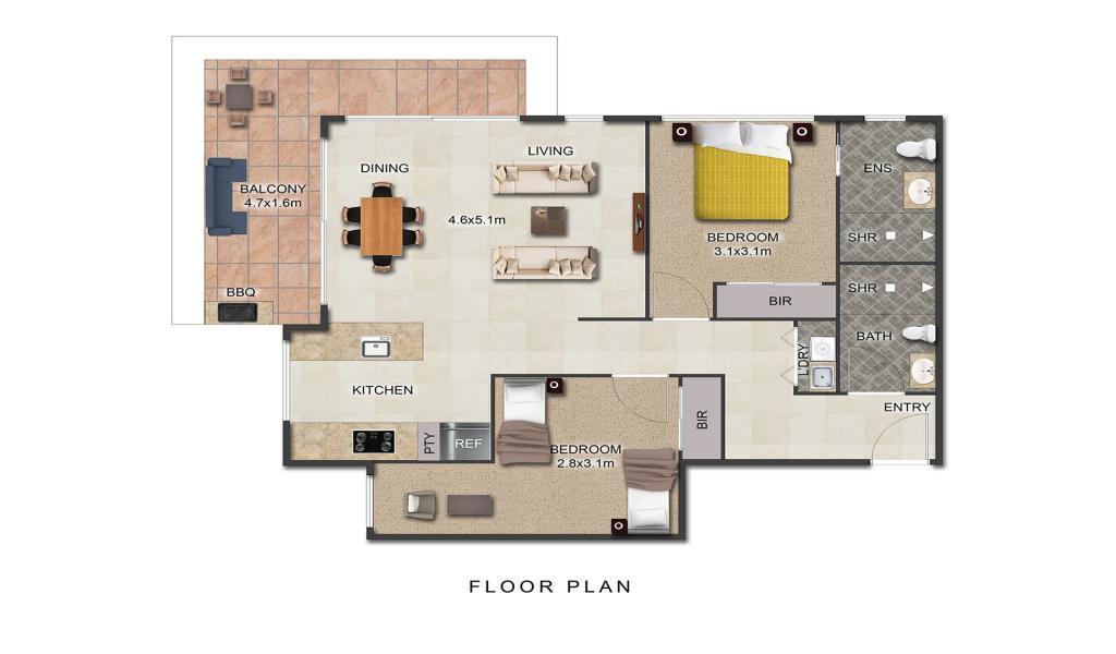 Maybloom - 2D floorplan - 1920x1080px