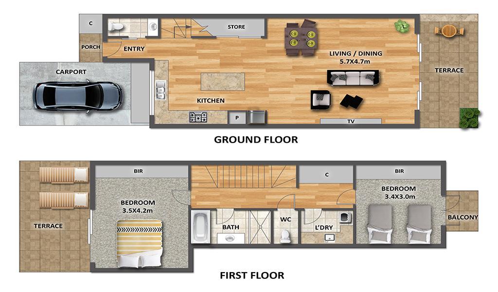 Port Haven - Port Melbourne - Floor Plan 1024px