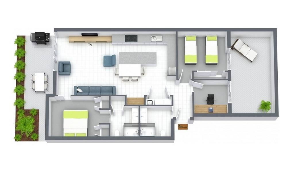 The Residence - Brighton - Floor Plan
