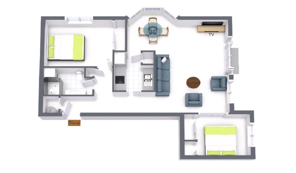 Wellington Mews - East Melbourne - Floor Plan