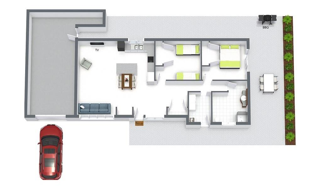 Sandy Breeze 3 - Sandringham - Floor Plan