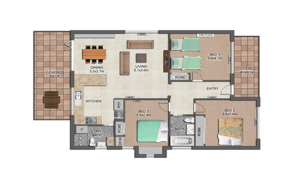 The Veronica - Northcote - Floor Plan
