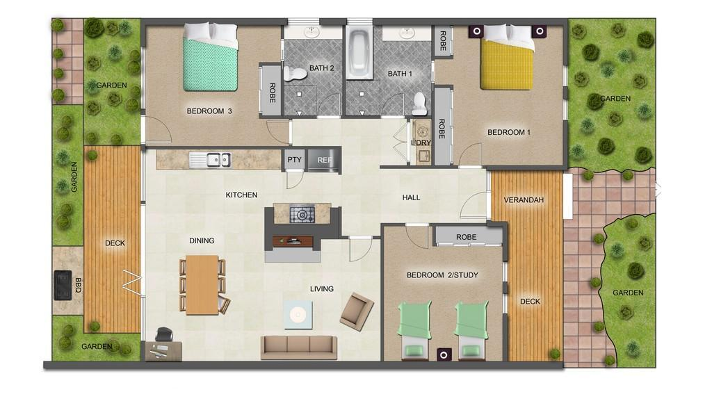 The Trenerry - Abbotsford - Floor Plan