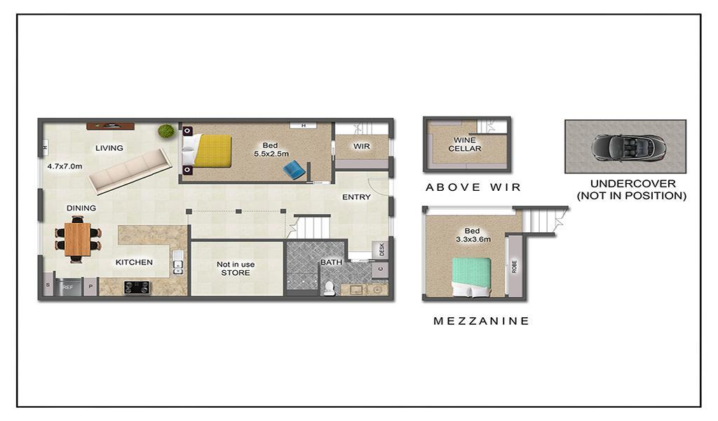 Loft on Rose - Fitzroy - Floorplan