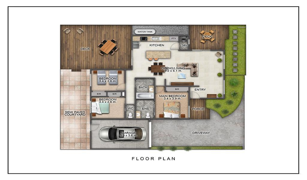 The Richardson - Mentone - Floor Plan