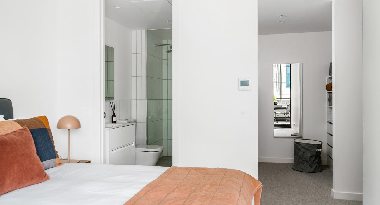 Axel Apartments - The Anderson - Glen Iris - Master Bedroom with Ensuite and WIR
