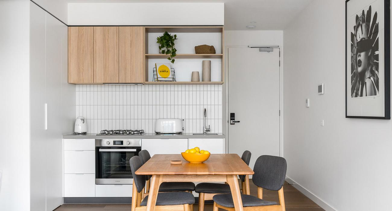 Axel Apartments - The Clarke - Glen Iris - Dining and Kitchen