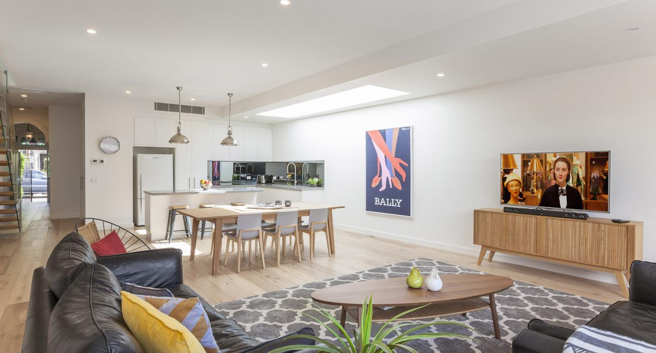Contempo - Prahran - Living to Dining and Kitchen Area