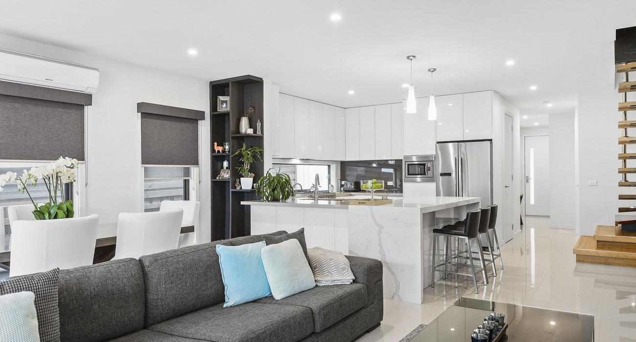 Edinburgh Place - Flemington - Living and Kitchen Without The Frame
