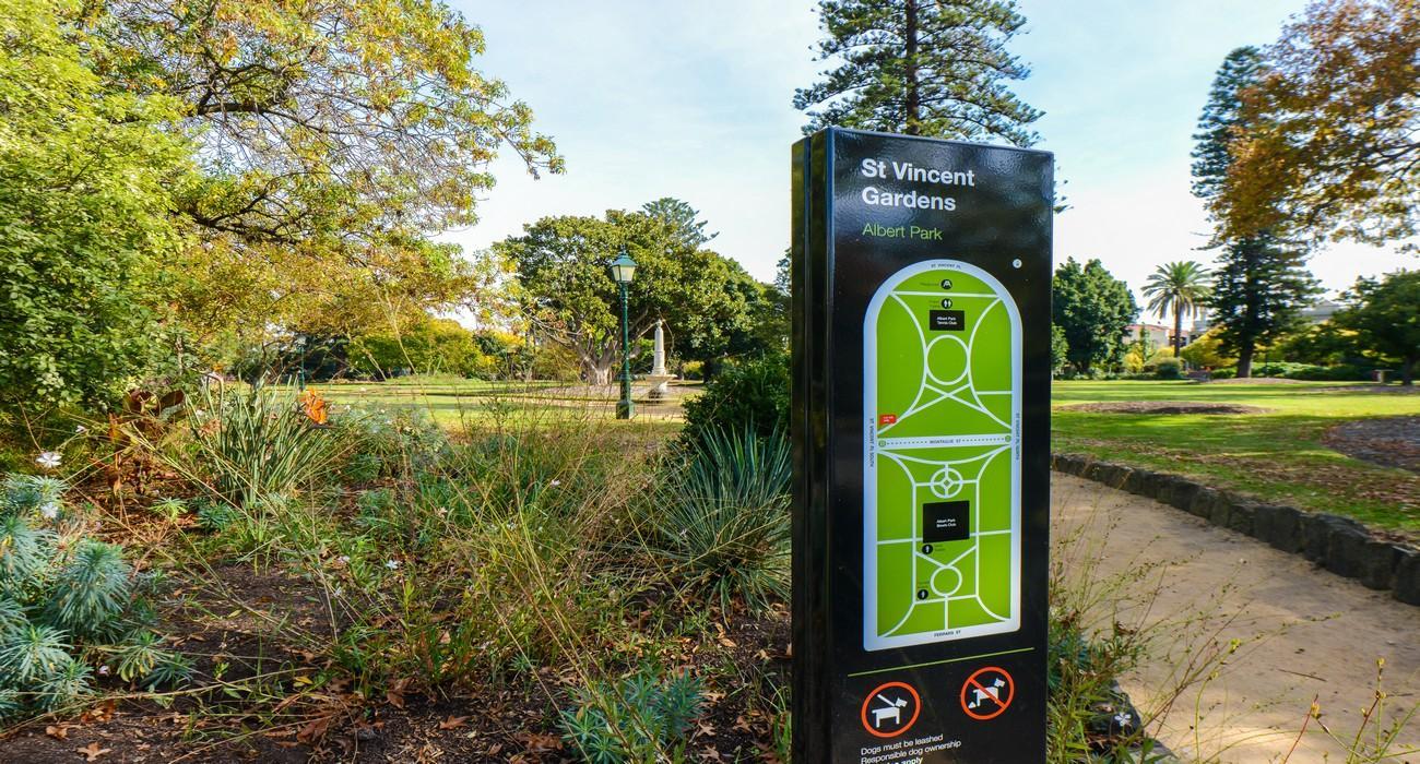 St Vincent Gardens, Albert Park