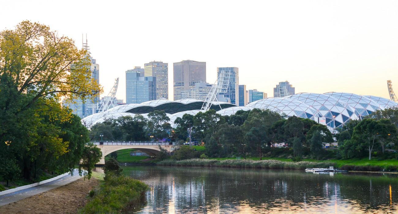 Yarra River and Sports Stadiums