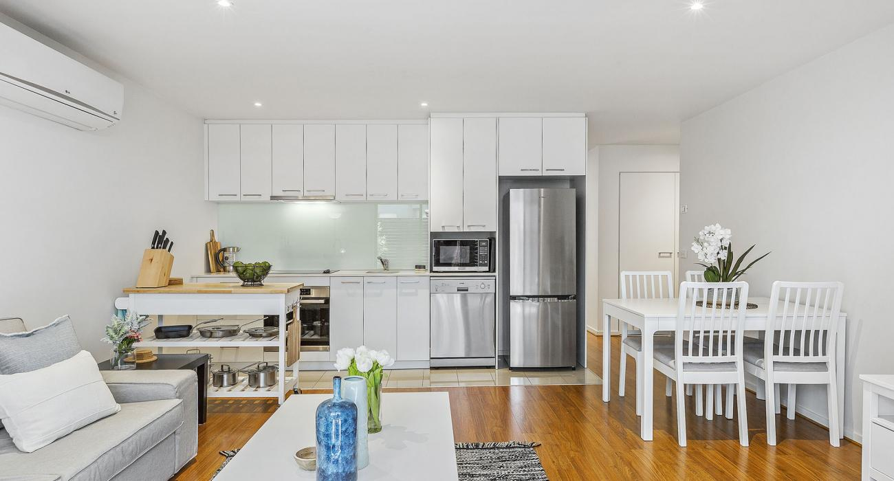 The Lansdowne - St Kilda - Living, Kitchen and Dining Area