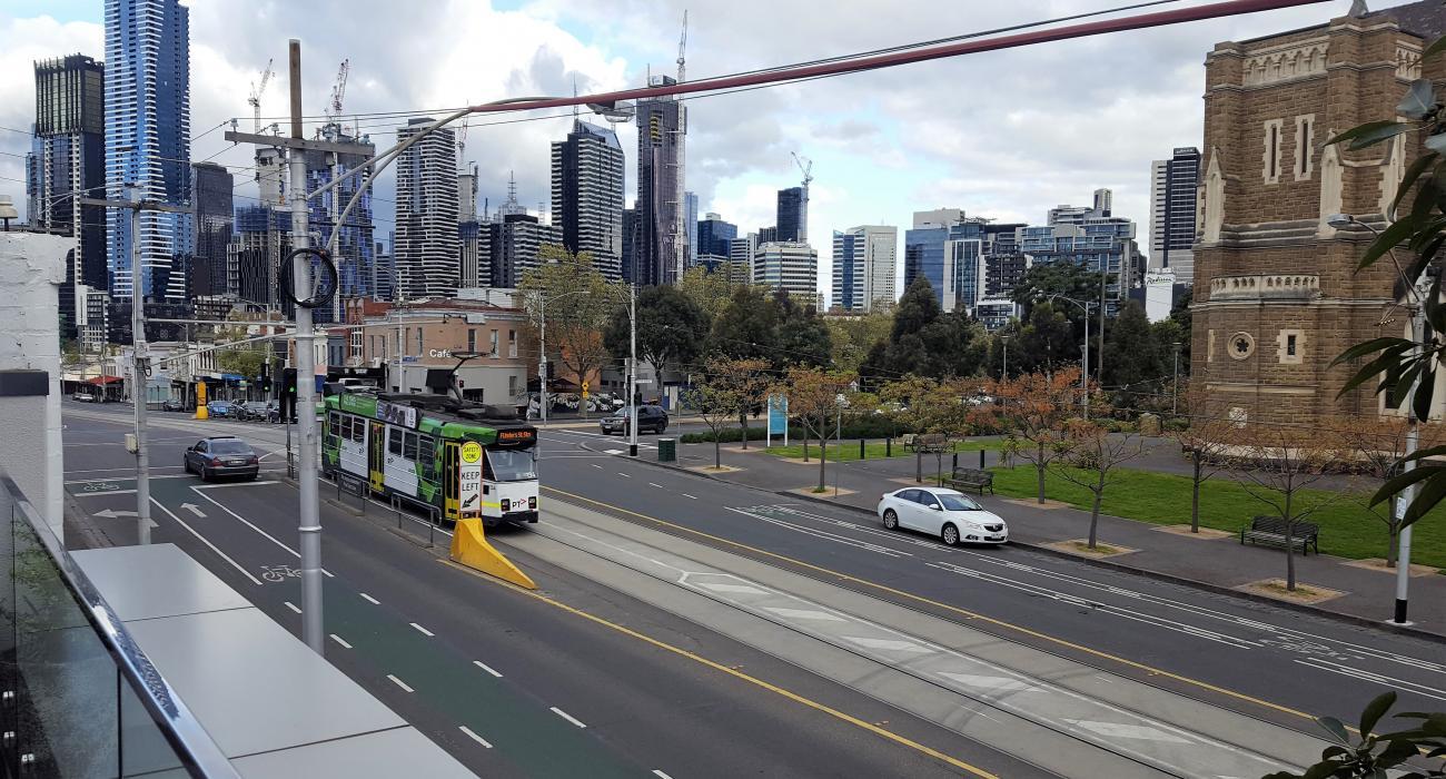 Tram Stop From Balcony