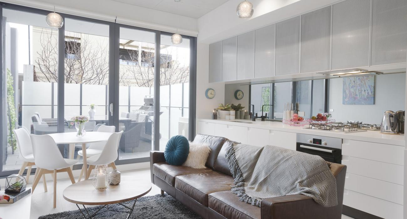 Vox Terrace - Prahran - Dining Living and Kitchen Area