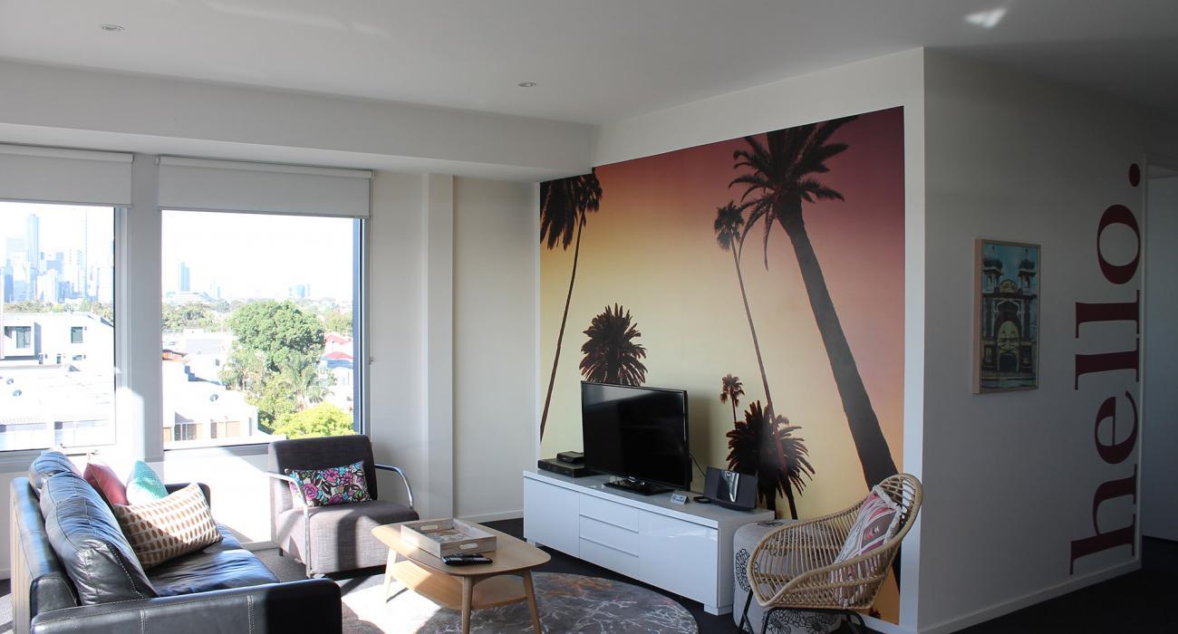 Zinc Views 501 - Port Melbourne - Living Area f