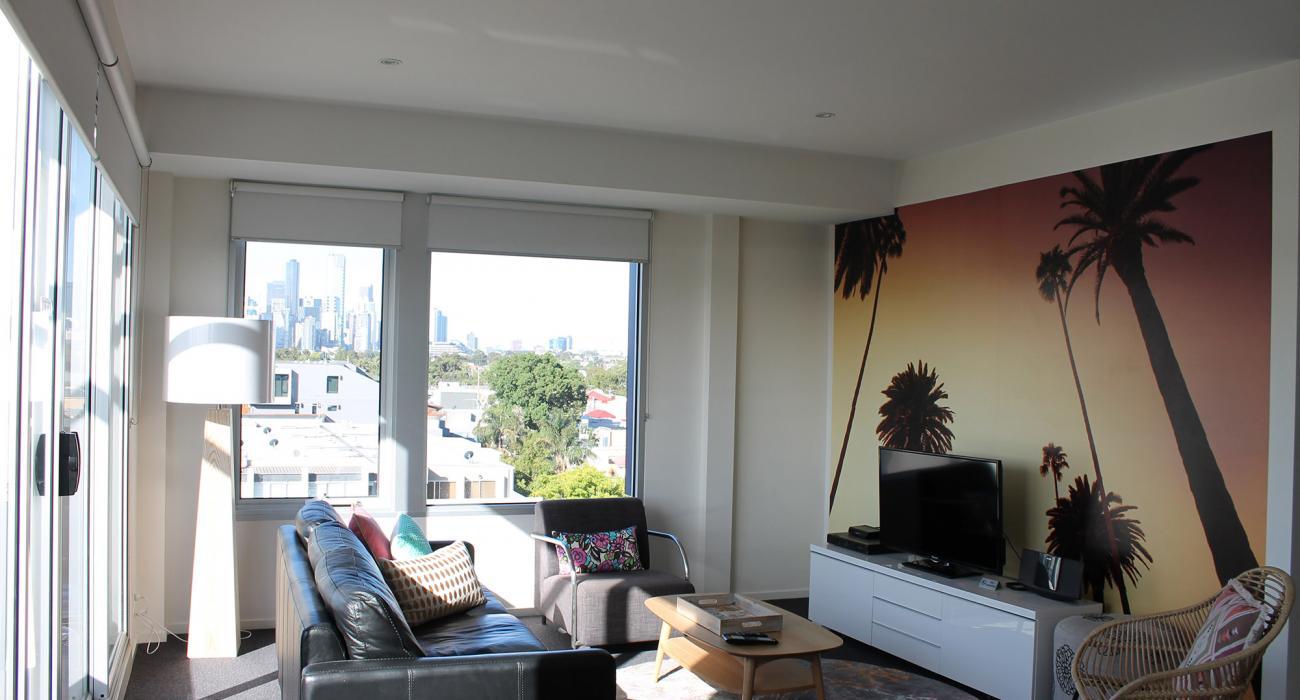 Zinc Views 501 - Port Melbourne - Living Area