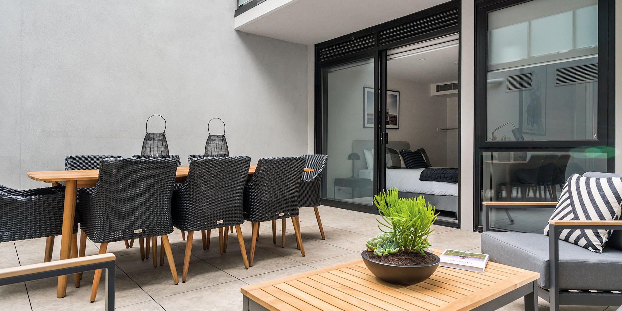 Axel Apartments - G02 The Faircroft - Glen Iris - Outdoor Area