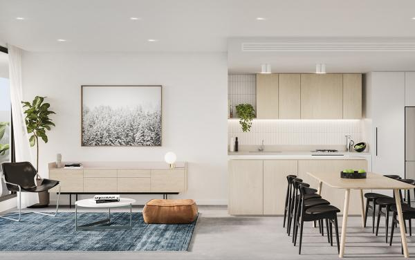 Axel - Glen Iris - Burke Road Living Kitchen Section