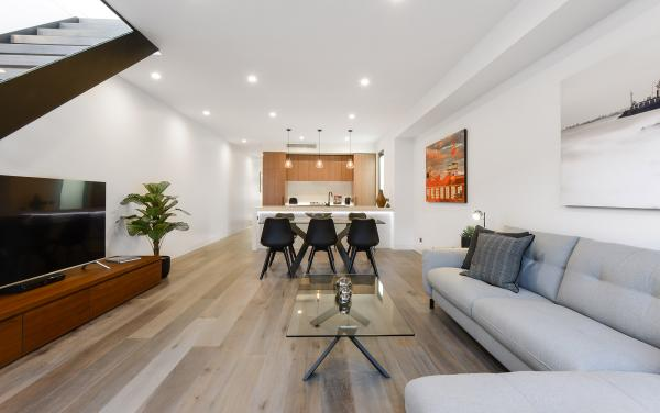 County Down - Port Melbourne - Living Area looking Toward Dining and Kitchen