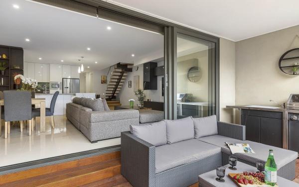 Edinburgh Place - Flemington - Rear Deck and Living Area
