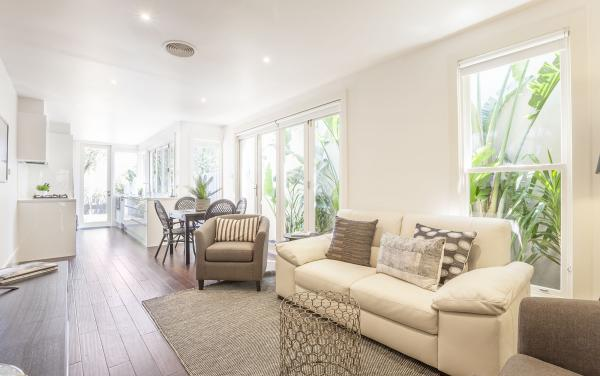 South Yarra Lane - South Yarra - Living Area Looking Towards Dining Area