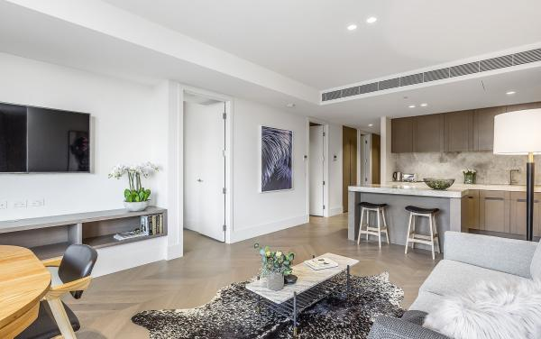 The Capitol - South Yarra - Living and Kitchen b