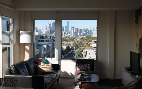 Zinc Views 501 - Port Melbourne - Living Area Window View b