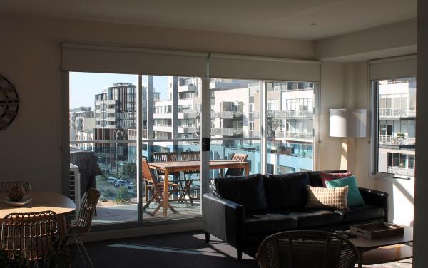 Zinc Views 501 - Port Melbourne - Living Area to Balcony