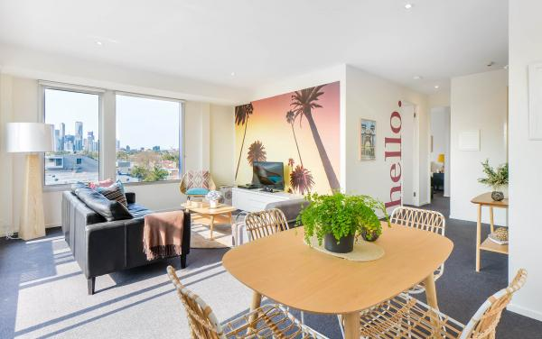 Zinc Views 501 - Port Melbourne - Living and Dining