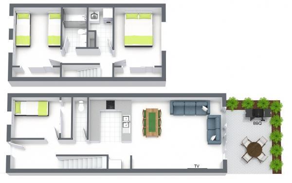Melrose Terrace - North Melbourne - Floor Plan